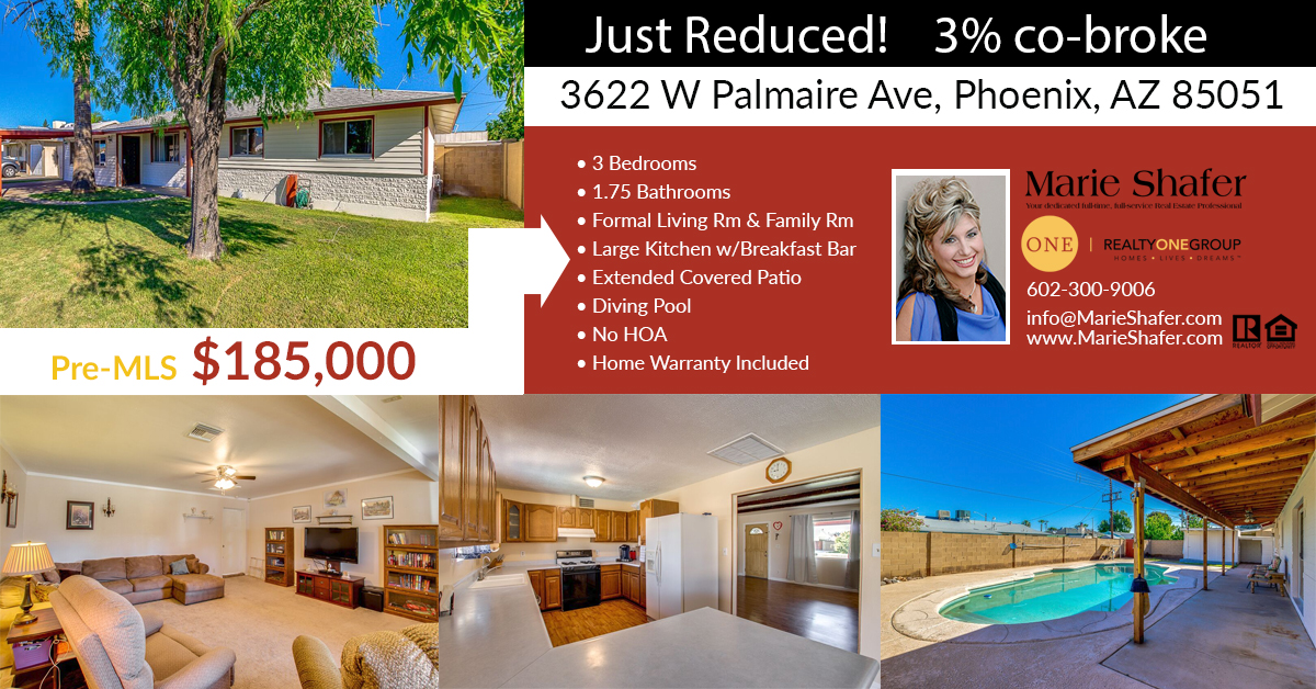 Reduced for quick sale! Now $185,000!!!