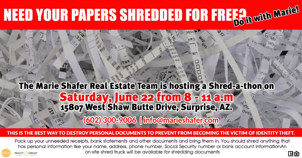 Shred-a-thon Surprise AZ by Marie Shafer